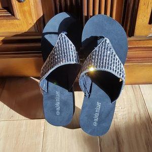 Beautiful Olivia Miller Beaded Sandals